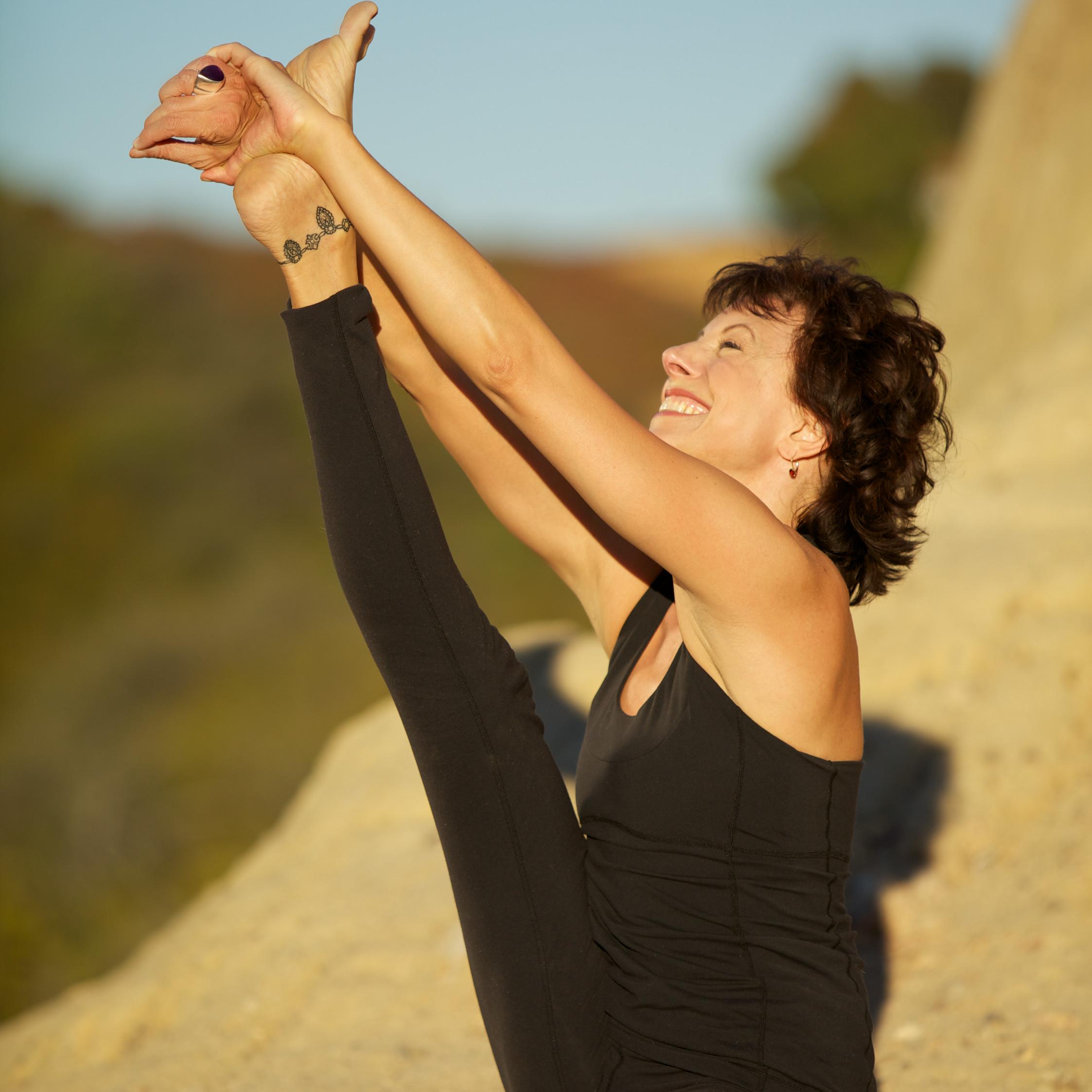 Jeanne Heileman Krounchasana Heron Pose Los Angeles Yoga Teacher